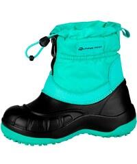 ALPINE PRO SAVIO Zelená Tyrkysovo zelená Detská zimná obuv e164772d214