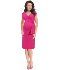 00ec153aef 9fashion Dojčiace materské a tehotenské šaty Janisa ružové