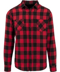 Build Your Brand Kostkovaná flanelová košile f7f39e937d