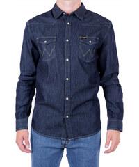 Pánská košile WRANGLER W5973O7WE RINSE INDIGO Modrá 3b10b789b1