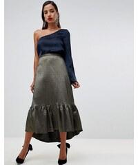 e10d1438a27 Closet London frill high low skirt - Gold