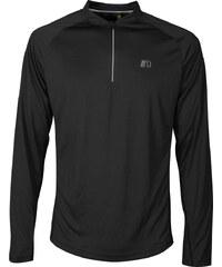 4c00e9022312 NEWLINE BASE Pánske bežecké tričko so zipsom 14370-060 čierna S