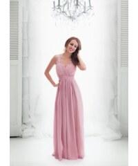 cf7fed702653 EVA   LOLA Společenské šaty JOELLE starorůžové