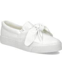 North Star Biela dámska Slip-on obuv s mašľou 766d8a405ef