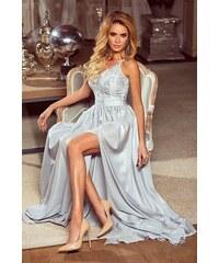 44a1435e2e82 EMO Dlouhé krajkové šaty Bella šedé 34