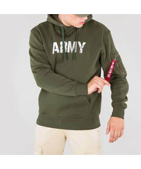 Pánská mikina Alpha Industries Army Nav Hoody Army Green e0f8be580af