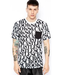 Crooks & Castles - T-Shirt mit Headliner-Druck - Weiß