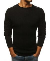 Dstreet Stylový pánský černý svetr 788468646a