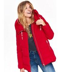 Top Secret Bunda dámská čeervená s kožíškovou kapucí c115fad4a46