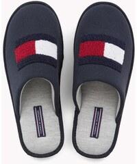 Tommy Hilfiger tmavě modré pánské domácí pantofle Terry Flag Homeslipper -  41 42 dc8ea49618