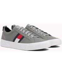 Tommy Hilfiger sivé kožené pánske tenisky Flag Detail Sneaker e021f0e8686