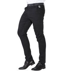 Ombre Clothing Pánské trendy černé chino kalhoty Daedalus 045bb67113