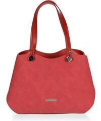 32c11e654f Červená elegantná dámska kabelka cez rameno S614 GROSSO