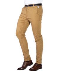 Ombre Clothing Pánské trendy béžové chino kalhoty Daedalus c5808e0548
