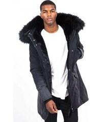 Pánska čierna bunda na zimu Sixth June Tie Dye Parka b455e2c2293
