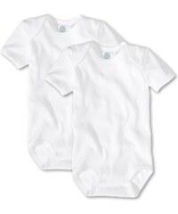 Sanetta Unisex - Baby Body 321860, 2Er Pack, Einfarbig