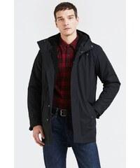 Levi s Pánska bunda LEVI´S 56967-0001 Fishtail Parka Coat BLACK 43db6e164a2