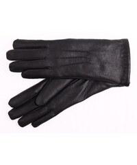 0e0a391310d ND Dámské kožené rukavice zateplené kožešinou 4168 černé