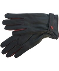 ef310736caf ND Dámské kožené rukavice 4383 černé   červené