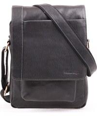 af2c74fc28 Pánská kožená taška přes rameno Sendi Design CT 704 černá