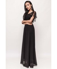 b75df5ea4d8 Adria Dámské dlouhé šaty s krajkovým volánem Catherine