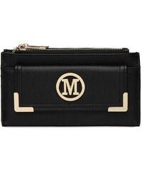 Miss Lulu Luxusná dámska peňaženka Melinda - čierna 1f01ed69fa4