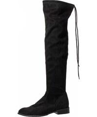 57ac6ee2ea0d OLIVIA SHOES Čierne Jednoduché čižmy nad kolená A1002-1