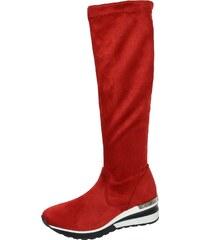 a590406bde44 OLIVIA SHOES Červené extravagantné topánky s ihličkovým podpätkom MS-11.  Detail produktu · OLIVIA SHOES Červené čižmy so sárou pod kolená DCI029  Angel