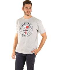 e7b8fd1913c Tommy Hilfiger pánské šedé tričko Circle