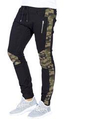 aa275354d92 Ombre Clothing Černé pánské maskáčové jogger kalhoty Blaise