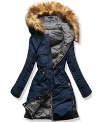 MODOVO Dámska zimná bunda s kapucňou A5 modro-šedá 193734366ef