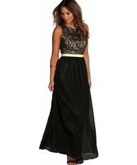 297e4c17360 BOOHOO Metalické maxi šaty s krajkou