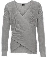 bonprix Pletený pulovr v zavinutém vzhledu f308b4b6a6