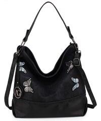 e957589d4a3 Anna Grace černá hobo kabelka s motivem motýlů