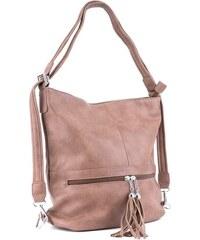 BELLA BELLY Béžová dámská kombinace crossbody kabelky a batohu Sestie 08dcac9a90a