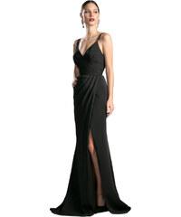 6c09bfde7304 Cinderella Elegantní černé šaty s rozparkem