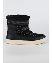 1a3fc01aa5a Boty Toms Black WR Leather Suede Faux Fur
