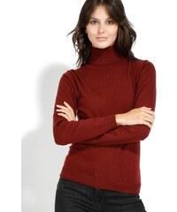 86dca713ab7f William de Faye Dámský svetr s kašmírem WF313 BORDEAUX