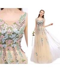 b99b2d94d20b Donna Bridal Krásné vyšívané květové plesové šaty z řady DB 2880-080