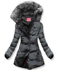 4b73f5046c8d MODOVO Dámska zimná bunda s kapucňou M-7 grafitová