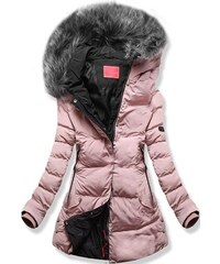MODOVO Női téli kabát kapucnival W166-1 fekete - Glami.hu d62b3fa16d