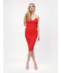 Glamor Koktejlové krátke fialové šaty. Detail produktu. Červené čipkované  midišaty MISSGUIDED 27d00cf695d