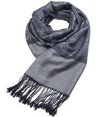 41a7bd0b60 Kašmírová šedo-černá elegantní šála