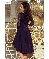 9cb145a250e6 Dámske šaty Numoco 210-2 s čipkou tmavomodré