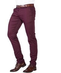 Repablo Pánské společenské kalhoty Brick bordó 870a05fcc4