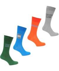 7afa7676d7a Pánské ponožky Calvin Klein Jeans 4 v balení Multi