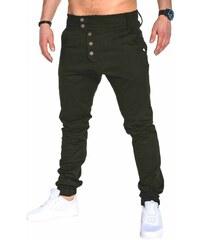 abe4f41a8fcd Ombre Clothing Pánske nohavice Weston zelené