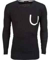 Ombre Clothing Pánske tričko s dlhým rukávom Finnegan čierne ffd8ad2735d