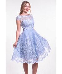 Chi-Chi London modré čipkované šaty e5225f0dfd0
