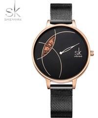 SK Shengke hodinky Corona Black K0091 BLACK 3124062db22